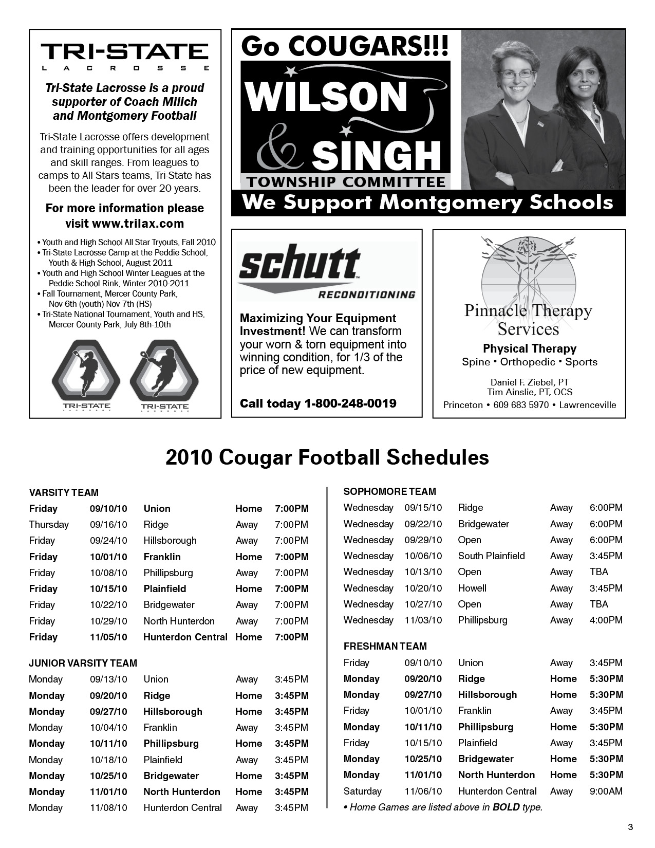 Free download program football programs ads sample for High school football program template
